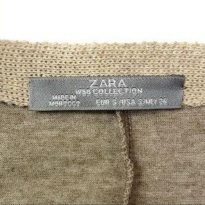 Zara Tops - Zara Collection Faux Suede V-Neck Blouse Tee